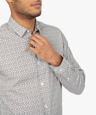 Chemise homme à motifs coupe slim vue2 - GEMO (HOMME) - GEMO