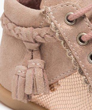 Chaussures premiers pas bébé fille irisées vue6 - Nikesneakers(BEBE DEBT) - Nikesneakers