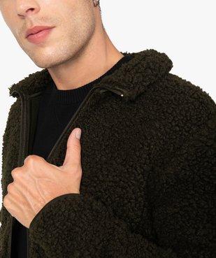 Blouson homme en polaire aspect laine de mouton vue2 - Nikesneakers (HOMME) - Nikesneakers