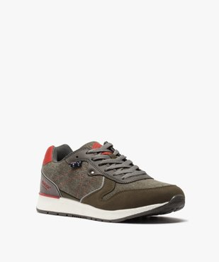 Baskets homme jeanswear à lacets - Roadsign vue2 - ROADSIGN - GEMO