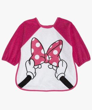 Bavoir bébé à manches longues en éponge imprimé Minnie  - Disney vue1 - MINNIE - GEMO