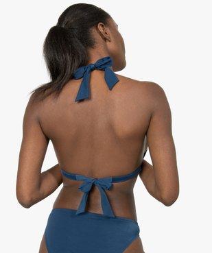 Haut de maillot de bain femme triangle uni vue2 - GEMO (PLAGE) - GEMO