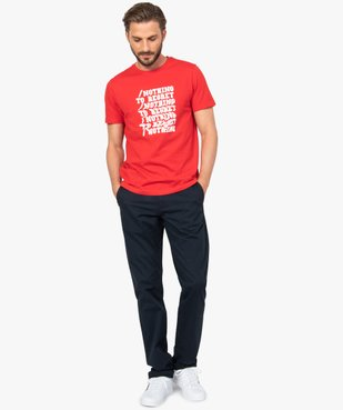 Pantalon chino homme coupe regular vue5 - GEMO (HOMME) - GEMO