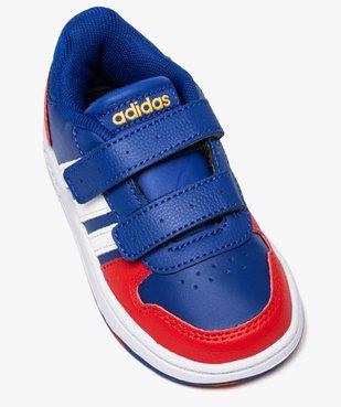 Baskets garçon multicolores à scratch – Adidas Hoops 2.0 vue5 - ADIDAS - Nikesneakers