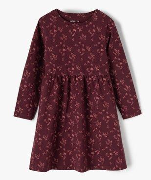 Robe fille à manches longues en maille à motifs fleuris vue1 - Nikesneakers C4G FILLE - Nikesneakers