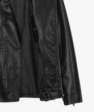 Blouson homme look motard imitation cuir vue6 - GEMO (HOMME) - GEMO