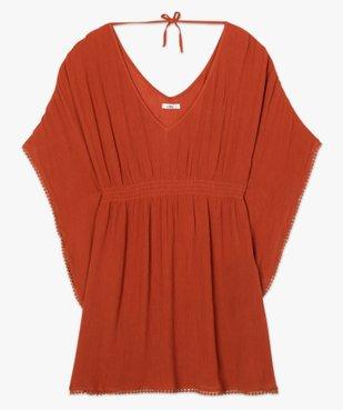 Robe de plage femme avec large décolleté vue4 - GEMO (PLAGE) - GEMO