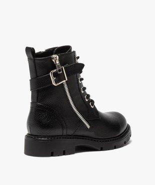 Boots fille à lacets style rock fermeture zippée vue4 - GEMO (ENFANT) - GEMO
