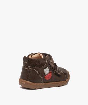 Chaussures premiers pas bébé unies en cuir - Geox vue4 - GEOX - GEMO