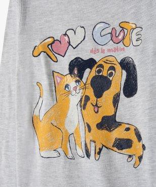 Pyjama fille avec motif chien et chat vue2 - GEMO (ENFANT) - GEMO