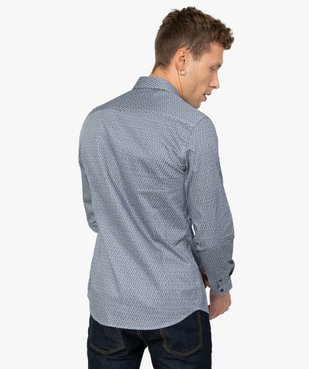Chemise homme imprimée coupe slim vue3 - Nikesneakers (HOMME) - Nikesneakers