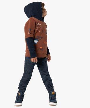 Pantalon garçon multipoches avec taille élastiquée vue6 - GEMO (ENFANT) - GEMO