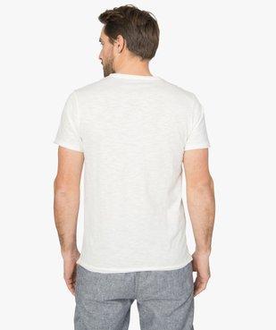 Tee-shirt homme à manches courtes avec finitions roulottées vue3 - GEMO (HOMME) - GEMO