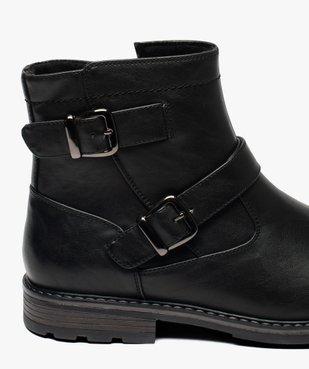 Boots homme à boucles décoratives et doublure chaude vue6 - GEMO (CASUAL) - GEMO