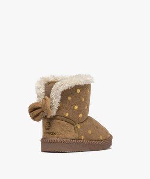 Boots d'intérieur bébé fille en suédine – Lulu Castagnette vue4 - LULU CASTAGNETT - GEMO