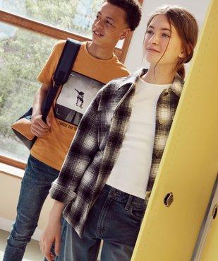 Tee-shirt garçon à manches courtes avec large motif vue6 - GEMO (JUNIOR) - GEMO