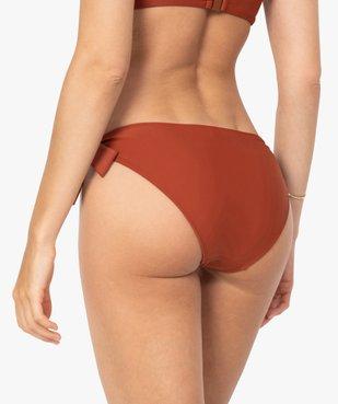 Bas de maillot de bain femme avec noeuds sur les hanches vue2 - GEMO (PLAGE) - GEMO