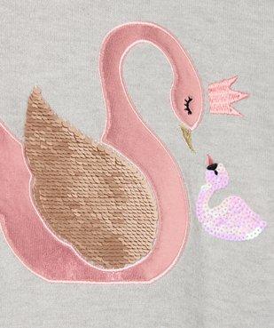Pull fille avec motif animalier pailleté et sequins brodés vue2 - GEMO (ENFANT) - GEMO