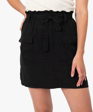 Jupe femme avec poches à rabat vue2 - GEMO(FEMME PAP) - GEMO