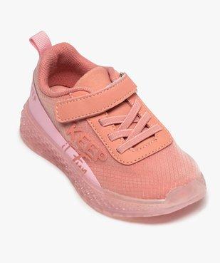 Baskets fille en textile à semelle translucide et fermeture scratch vue5 - GEMO (ENFANT) - GEMO