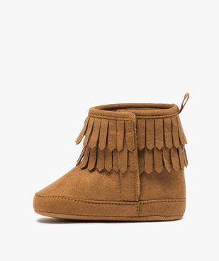 Chaussons bébé fille unis style boots à franges vue3 - GEMO C4G BEBE - GEMO