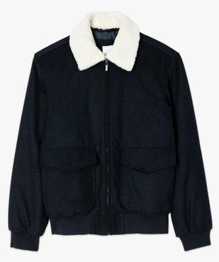 Blouson homme  laine avec col   amovible vue4 - GEMO (HOMME) - GEMO