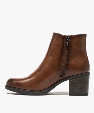 Boots femme unies à talon style chelsea – Tom Tailor vue3 - TOM TAILOR - GEMO