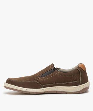 Chaussures bateau homme sans lacets – Terre de Marins vue3 - TERRE DE MARINS - GEMO