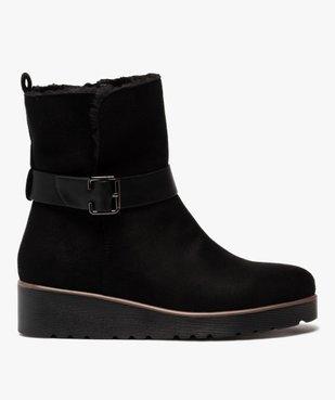 Boots femme à semelle plateforme en suédine unie vue1 - GEMO(URBAIN) - GEMO
