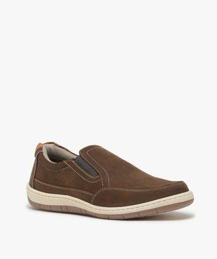 Chaussures bateau homme sans lacets – Terre de Marins vue2 - TERRE DE MARINS - GEMO