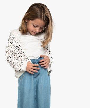 Blouson fille imprimé avec liserés pailletés vue1 - GEMO (ENFANT) - GEMO