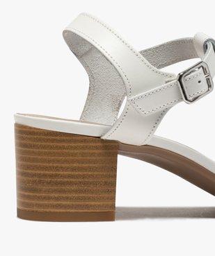 Sandales femme à talon carré et fines brides en cuir vue6 - GEMO(URBAIN) - GEMO