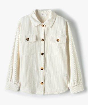 Veste fille en velours côtelé aspect chemise vue2 - GEMO (JUNIOR) - GEMO