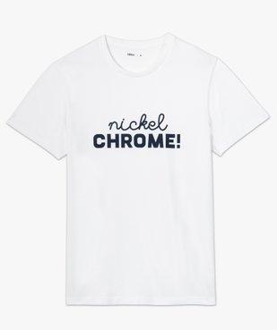 Tee-shirt homme avec inscription contrastante sur l'avant vue4 - GEMO (HOMME) - GEMO