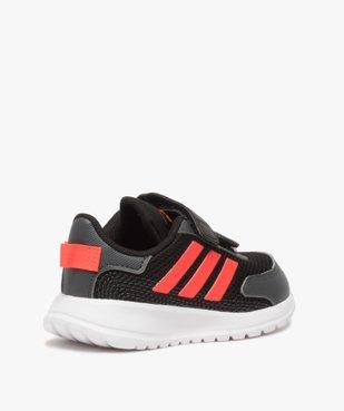 Baskets bébé garçon bi-matières à scratch - Adidas vue4 - ADIDAS - Nikesneakers