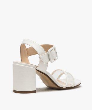 Sandales femme à talon carré et bride transparente vue4 - GEMO(URBAIN) - GEMO