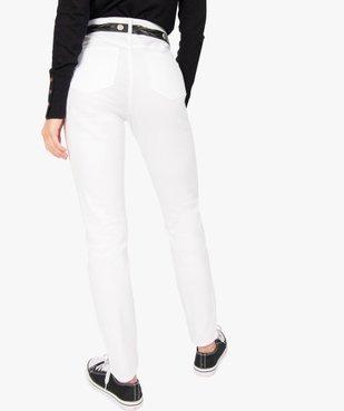 Pantalon femme façon jean coupe slim vue3 - GEMO(FEMME PAP) - GEMO