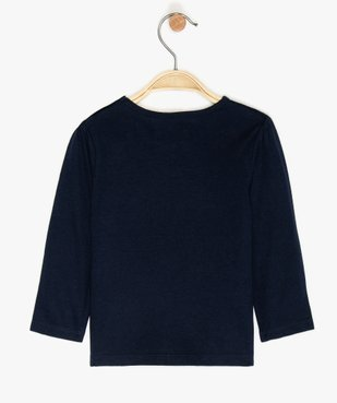 Tee-shirt bébé fille manches longues avec motifs et inscriptions vue2 - GEMO C4G BEBE - GEMO
