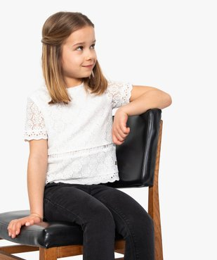 Tee-shirt fille en broderie - Lulu Castagnette vue1 - LULUCASTAGNETTE - GEMO