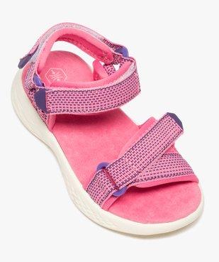 Sandales sport fille extra-légères à scratch vue5 - GEMO (ENFANT) - GEMO