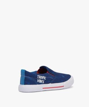 Chaussures basses garçon en toile imprimée col élastiqué vue4 - GEMO C4G GARCON - GEMO