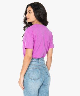 Tee-shirt femme oversize imprimé vue3 - GEMO(FEMME PAP) - GEMO