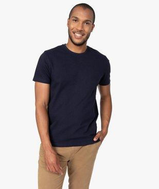 Tee-shirt homme 100% coton biologique en maille texturée vue2 - GEMO (HOMME) - GEMO
