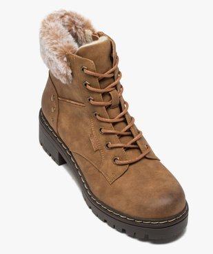 Boots fourrées femme à col rembourré et semelle crantée vue6 - GEMO (CASUAL) - GEMO