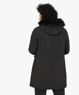 Manteau femme à capuche fantaisie et touches métalliques  vue3 - GEMO (G TAILLE) - GEMO