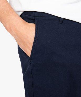 Pantalon homme chino stretch en maille piquée vue2 - GEMO (HOMME) - GEMO