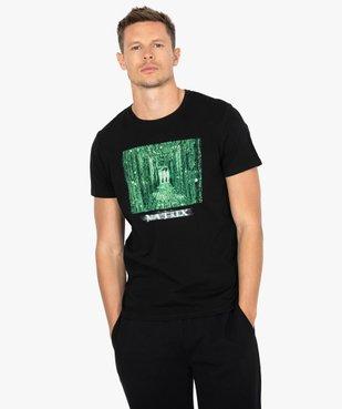 Tee-shirt homme manches courtes imprimé - Matrix vue1 - MATRIX - GEMO