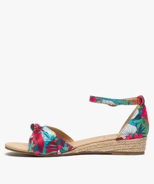 Sandales femme à petit talon compensé et dessus drapé vue3 - Nikesneakers (CASUAL) - Nikesneakers