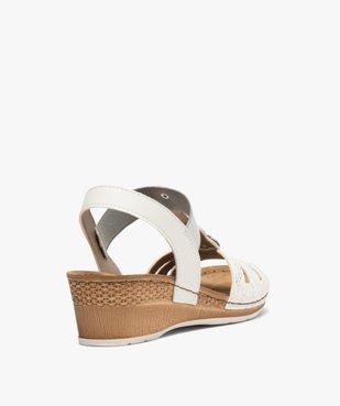 Sandales femme à enfiler avec talon compensé vue4 - GEMO(URBAIN) - GEMO