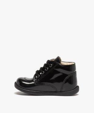 Chaussures premiers pas bébé fille à lacets dessus cuir verni vue3 - Nikesneakers(BEBE DEBT) - Nikesneakers